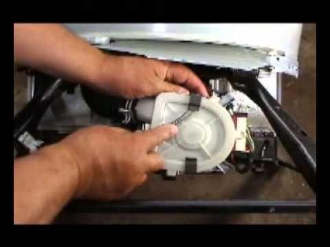 Comprobar el motor de una lavadora Whirlpool de transmisión directa - YouTube