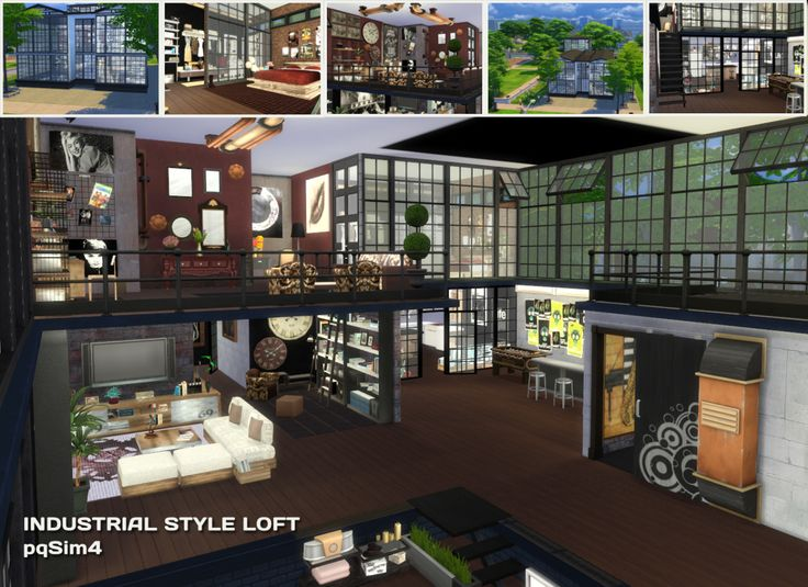 Sims 4 Pics & News — sssvitlans: Sims 4. Industrial Style Loft by...