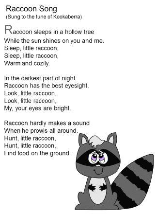 raccoons for kindergarten | all Poetry ] [ Raccoons Index ]