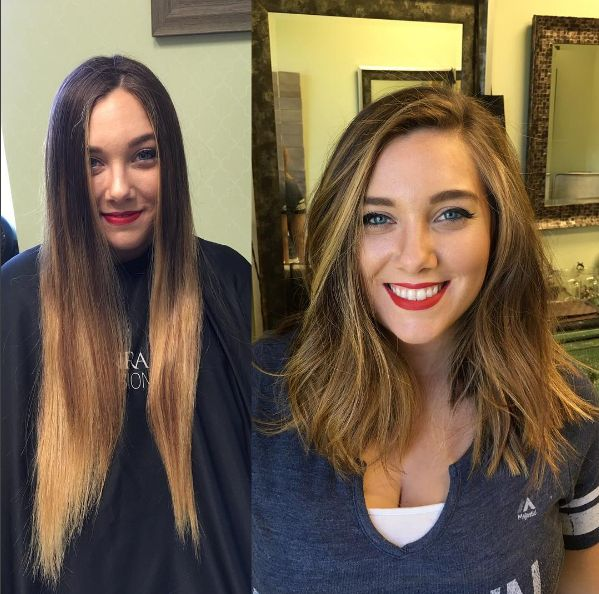 And this woman, who went from long and straight to full and wavy. | 18 Before And Afters That'll Inspire You To Get A Haircut