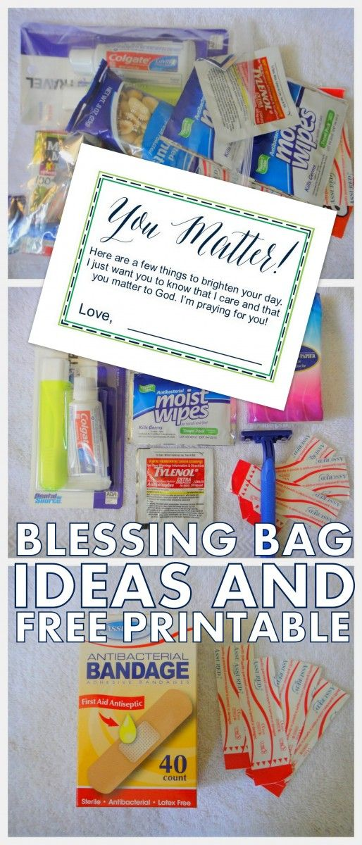 Printable Blessing Bag Cards!