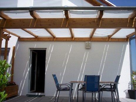 sonnensegel seilgespannt hellelfenbein pergola pinterest sonnensegel grillecke und. Black Bedroom Furniture Sets. Home Design Ideas