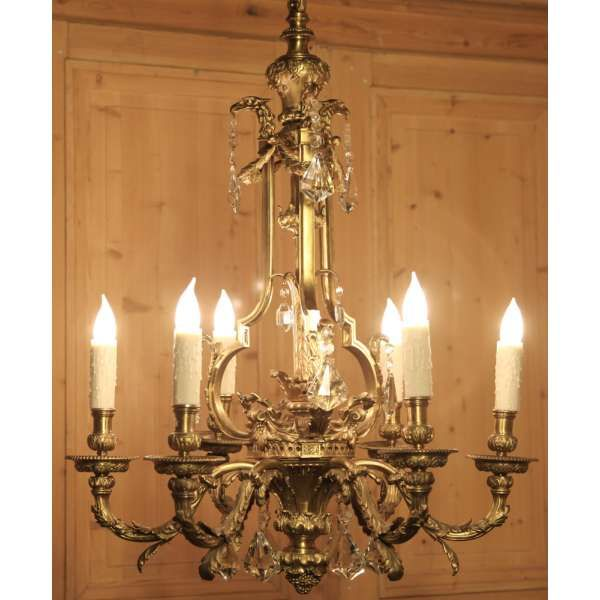 Antique Lighting Chandeliers French Louis Xvi Bronze Chandelier Inessa