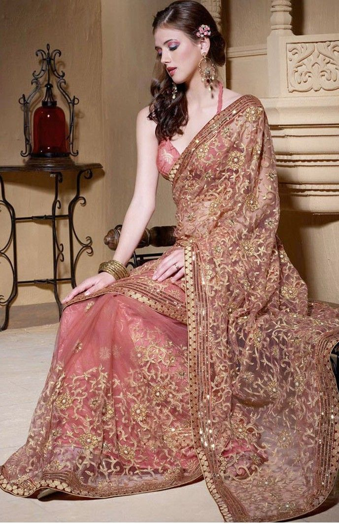 Gorgeous Pink and gold Saree
