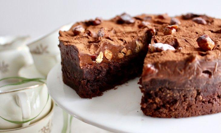 Bjud pappa på en lyxig chokladtårta på söndag!
