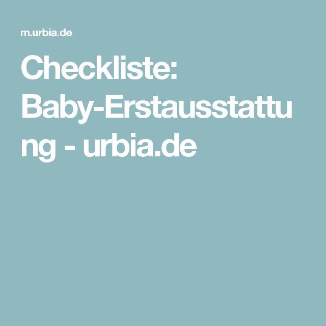 Checkliste: Baby-Erstausstattung - urbia.de