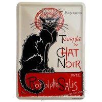 Plaque métal La Tournée du chat noir de Rodolphe Salis carte postale rétro vintage collection