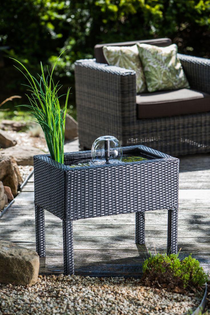 Simple  heissner de Kleine Wasserg rten Optimal f r Balkon und Terrasse