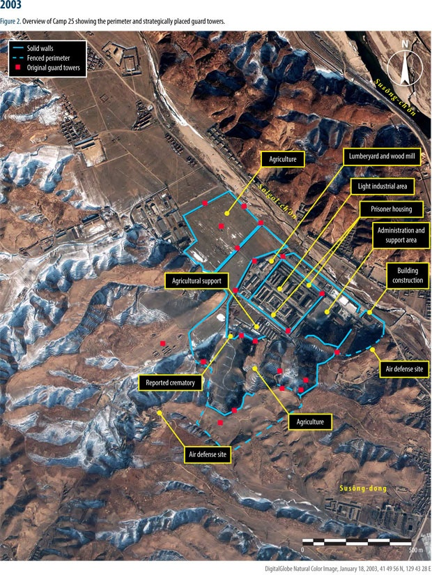 North Korea expanding gulag network satellite images