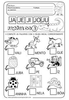 A Arte de Ensinar e Aprender: Atividade pronta - Família silábica do J                                                                                                                                                      Mais