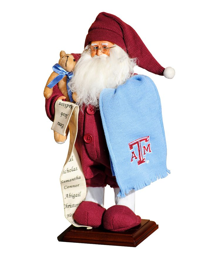 Texas A&M Aggies Pajama Santa Figurine