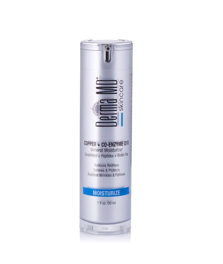 Copper Peptide Complex + Co-Q10 Moisturizer -- COPPER CoQ10 MOISTURIZER Silky anti-aging moisturizer formulated to help reduce redness, hydrate, increase moisture retention & collagen levels!