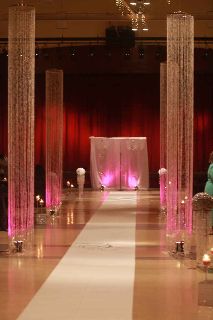 Decorating Columns For Wedding Cool Sliver Mental Wedding