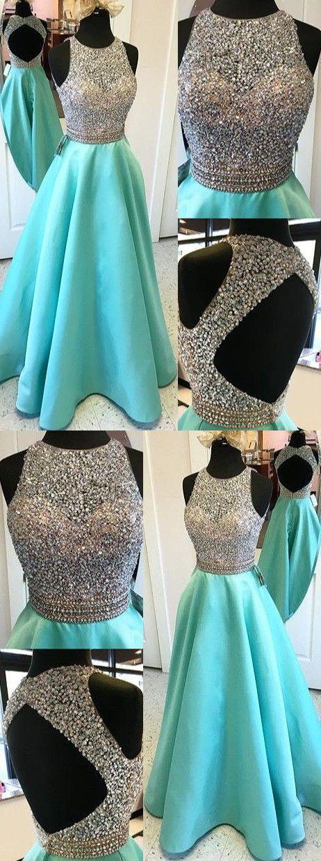 O-Neck A-Line Beading Prom Dresses,Long Prom Dresses,Cheap Prom Dresses, Evening Dress Prom Gowns, Formal Women Dress,Prom Dress MT20187436