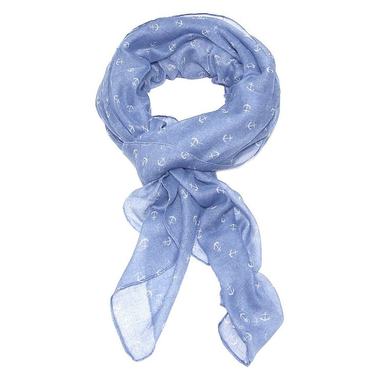 Le Petite Mer Tiny Anchor Scarf - Sky Blue
