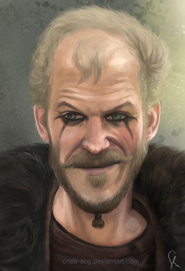 Floki from Vikings, digital portret.