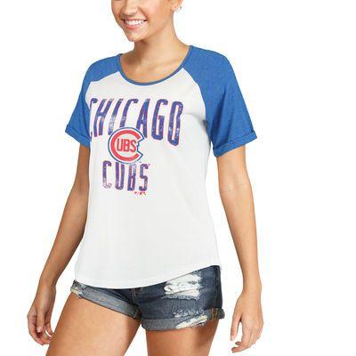 Chicago Cubs Women's White Timeless Serenity Baseball T-Shirt