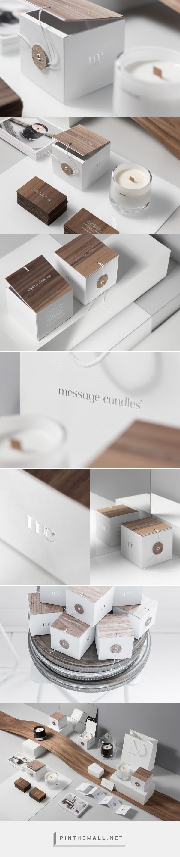 Message candles by For brands .