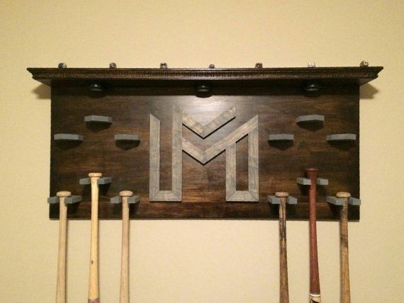 Hey, I found this really awesome Etsy listing at https://www.etsy.com/listing/263423796/baseball-bat-display