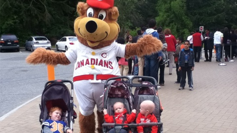 Vancouver Canadians mascot Bob Brown Bear is going to be in your neighbourhood this month!