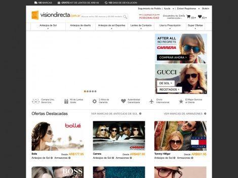 Visión Directa: Plataforma venta online de anteojos de las mejores marcas del mercado