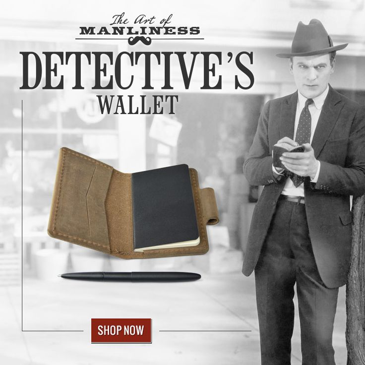 Introducing the Art of Manliness Detective's Wallet | Art ...