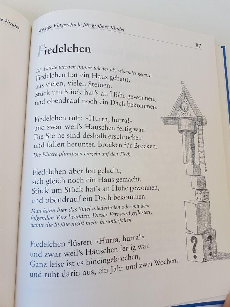 Fiedelchen #fingerspiel #krippe #kita #kindergarten  #kind #reim #gedicht #erzieherin #erzieher