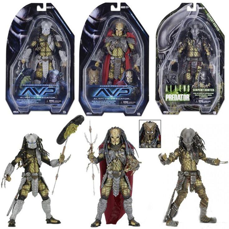 NECA AVP Aliens vs Predator Figure Series Alien Covenant Elder Predator Serpent Hunter Youngblood Predator Action Figures