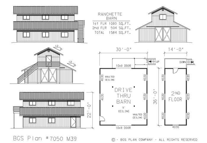 Barn plans garage plans storage building plans for Monitor barn house plans