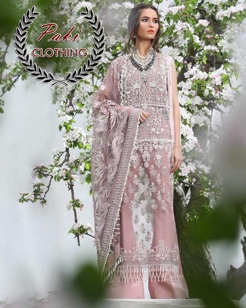 61ceb8389d Buy SANA SAFINAZ NET WITH NET EMBROIDERED DUPATTA INNER INCLUDE  (Replica)(Unstitched)