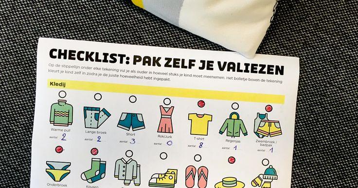 Valies inpakken en wegwezen, was het maar zo simpel. Met deze checklist leer je je kind hoe het niets vergeet op reis. Download de gratis checklist.