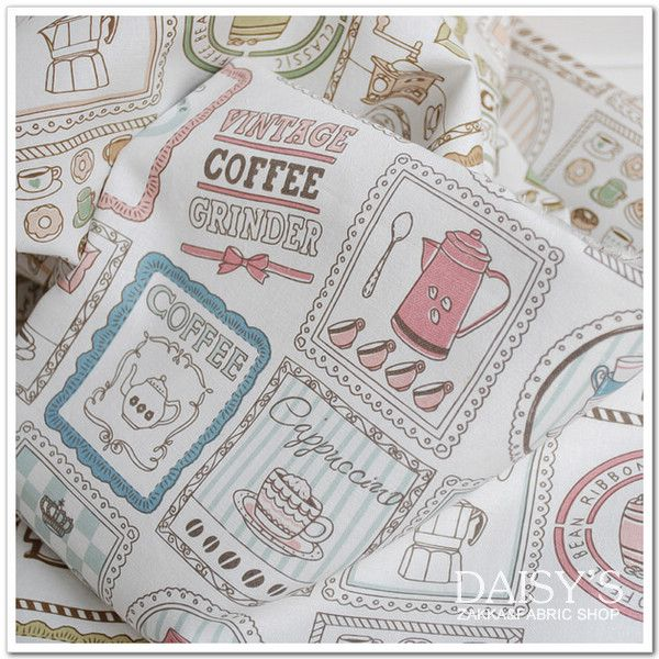 Cheap linen blend fabric, Buy Quality cotton fabric directly from China cotton fabric by meter Suppliers: 100*140cm pinted Coffee Moker cotton and  linen blend fabric  DIY manual home craft cotton fabric by meter
