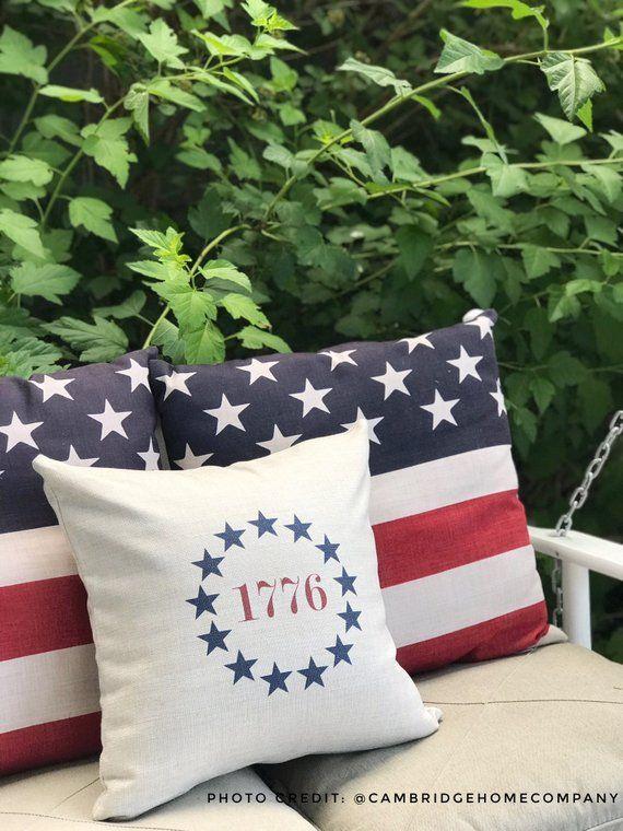 Americana Decor Memorial Day Pillow