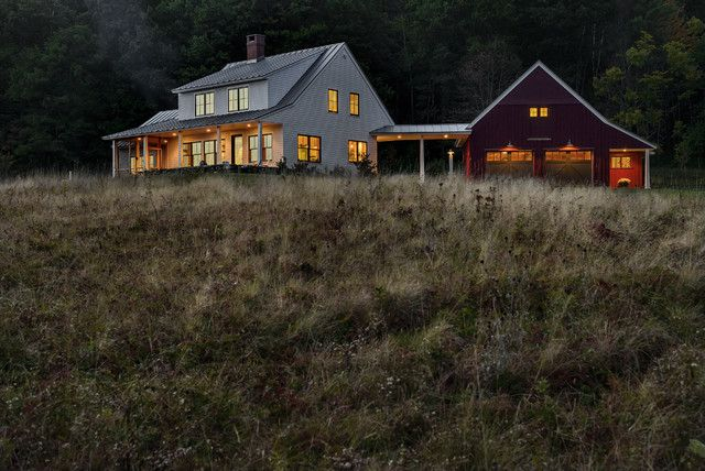 Beautiful Metal Farmhouse w/ Porch & Detached Barn (10 Pictures) | Metal Building Homes