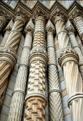 British History Museum pillars