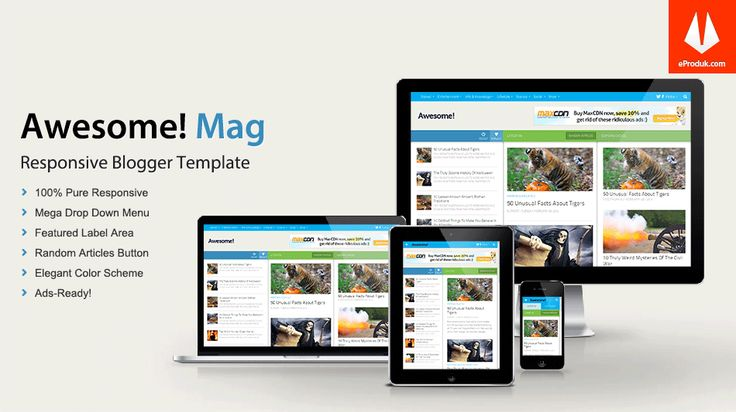 Responsive Blogger Template v2 Awesome Mag is a fully responsive blogger theme with awesome design and awesome features you never seen before.
