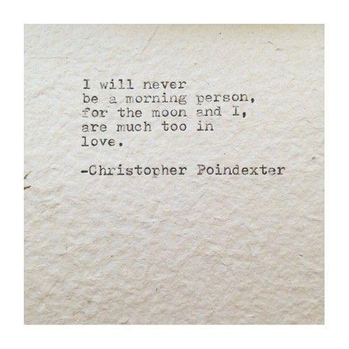 The moon has stolen my  heart.