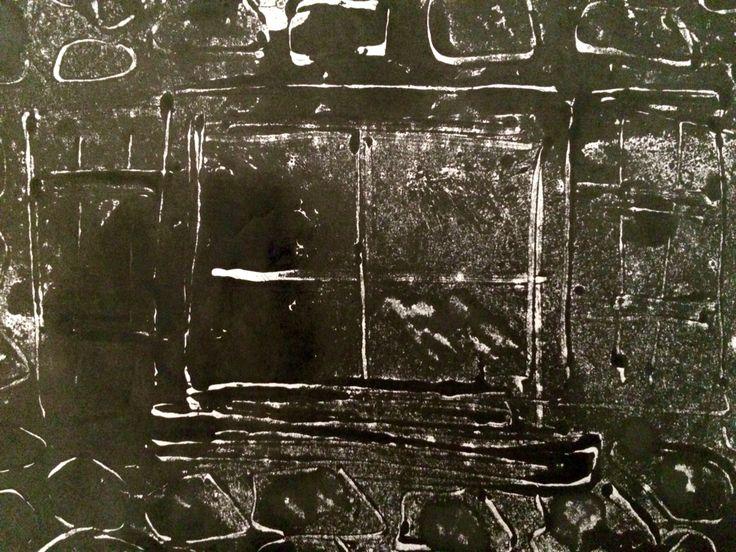 Jo Hannah. Window 7. Monoprint.