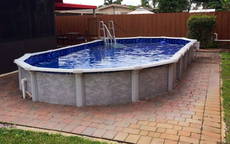 Image Result For Buried Above Ground Pool 12 X 24 Oval