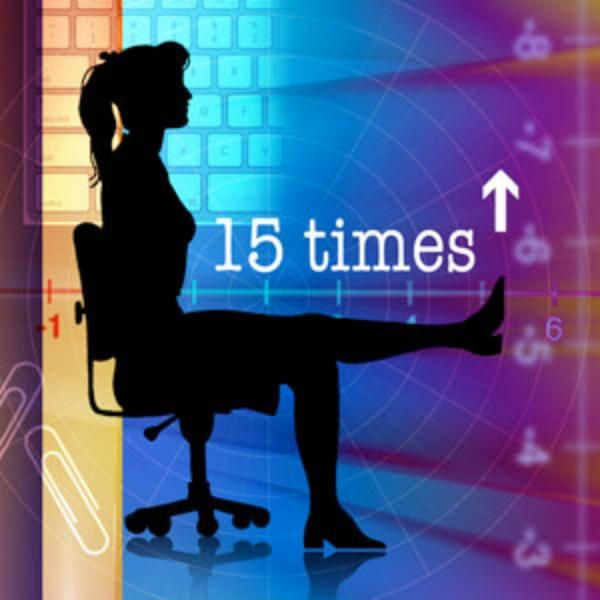 Workout at your desk with these simple moves via Forbes.