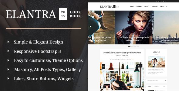 Elantra WordPress theme build especially fans of blogs, bloggers who love to share their stuff, all about fashion, looks, life, travel, food, own hobby and more. You can use this theme for any purpose you want or just like a simple personal blog. Theme has large functionality and great number of features.   #food #blog #design #inspiration