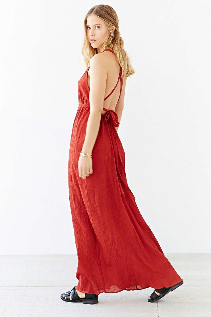 High neck summer maxi dress