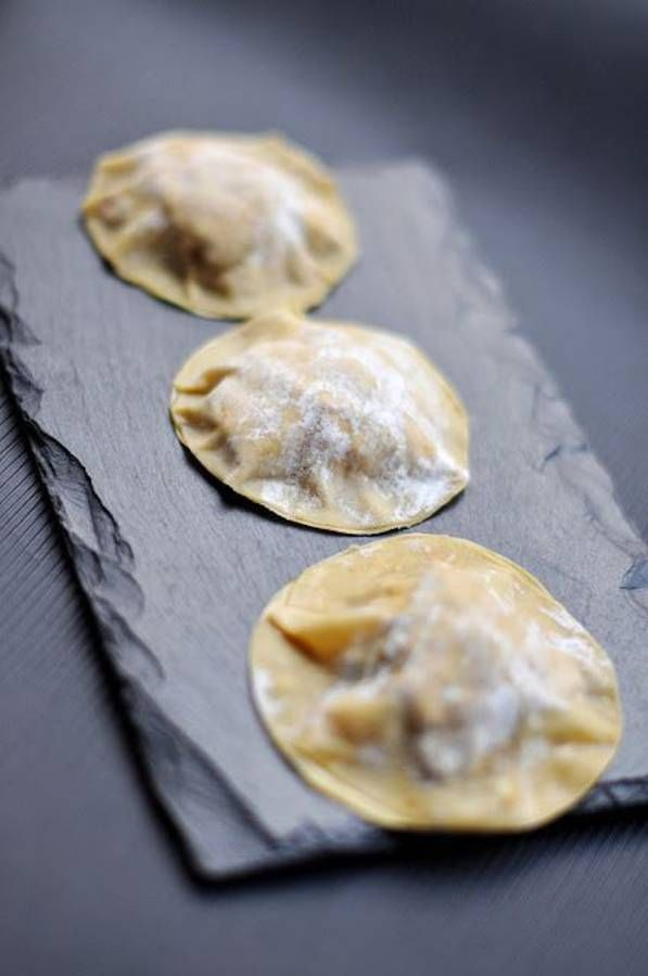 Ravioles foie gras et crème de truffe