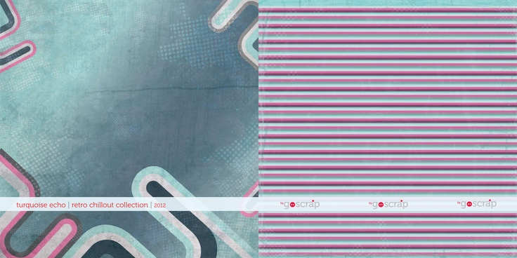 #scrapbooking paper turquoise echo - retro chillout collection by GOscrap