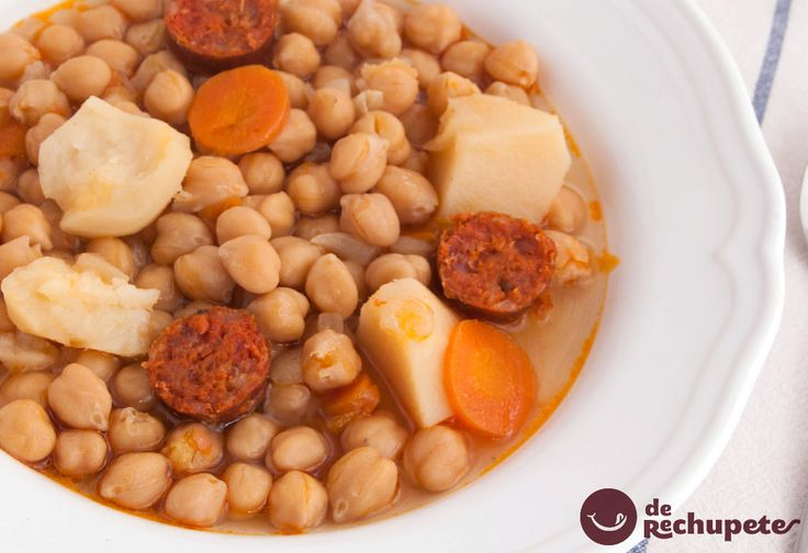 77 mejores im genes sobre recetas de cuchara en pinterest for Cocinar garbanzos con chorizo