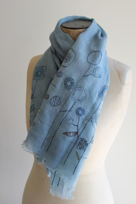The creatory - handmade, beautifully hand stitched linen wrap by Sophie Digard http://thecreatory.com/journal/all-about-linen-new-scarves-from-sophie-digard/