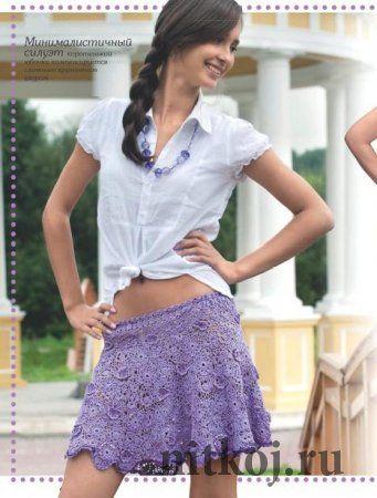 Кружевная юбка крючком