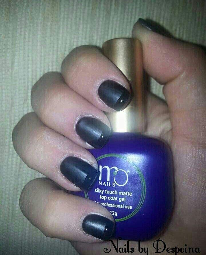 Black nails mat finish