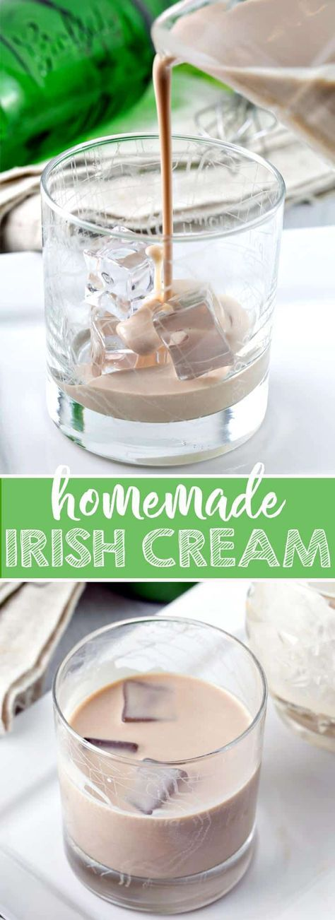 Homemade Irish Cream: quick to make and tastes like the real thing! Customize flavors for sipping, adding to drinks, or boozy desserts. {Bunsen Burner Bakery} #irishcream #baileysirishcream #boozy #stpatricksday via @bnsnbrnrbakery