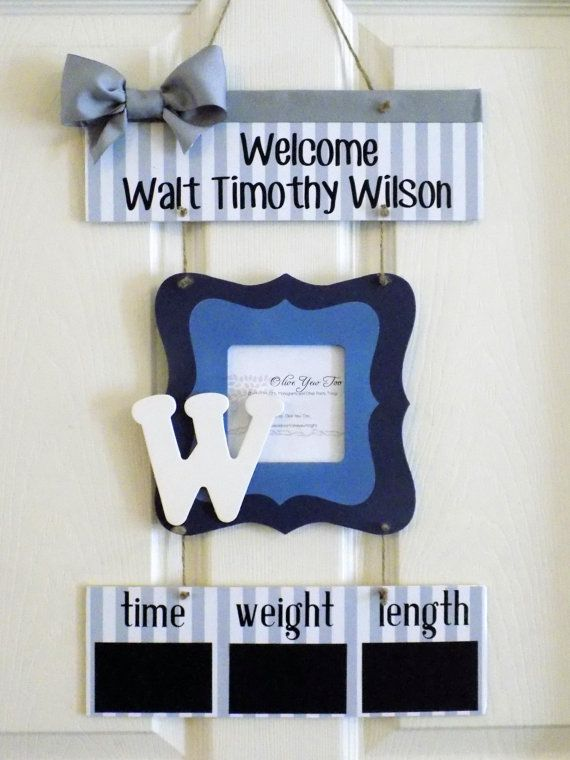 Hey, I found this really awesome Etsy listing at https://www.etsy.com/listing/213142675/12-x-21-blue-and-gray-welcome-baby-boy